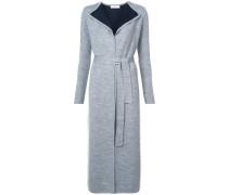 contrast lining cardigan coat