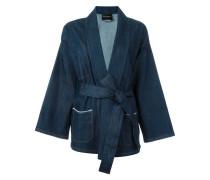 'Gagan' kimono wrap denim jacket