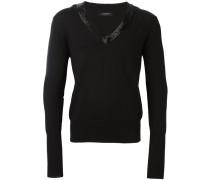 Pullover mit verziertem V-Ausschnitt