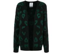 Intarsien-Cardigan mit Leopardenmuster