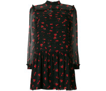 berry print chiffon dress
