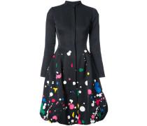 paint splattered buttoned dress