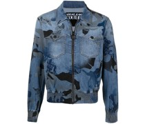 Jeans-Bomberjacke mit Camouflage-Print