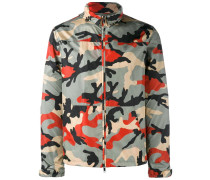 Sportjacke mit Camouflage-Print