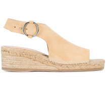 buckled espadrille sandals