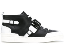 High-Top-Sneakers mit Schnalle