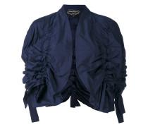 Cropped-Jacke mit Rüschen