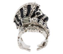 Swarovski crystals zebra ring