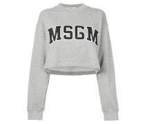 cropped logo sweatshirt