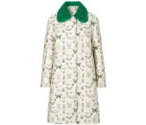 bug print jacquard coat