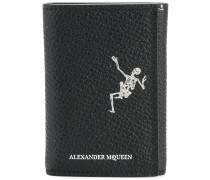 Portemonnaie mit Skelett-Print