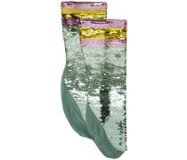 Socken mit Paillettenstickerei