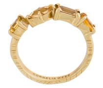 18kt vergoldeter Ring mit Prägung