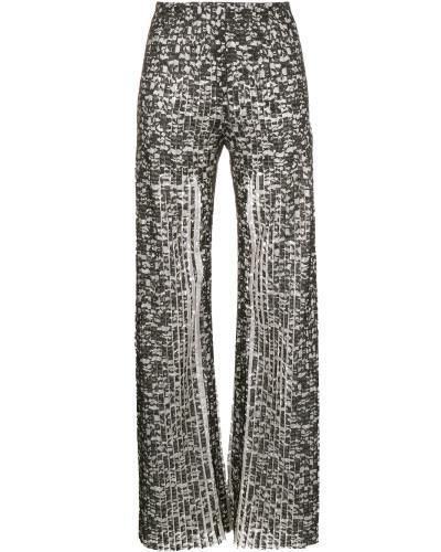 Hose mit plissiertem Design