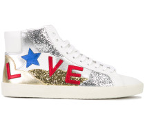 High-Top-Sneakers mit Glitzerverzierung