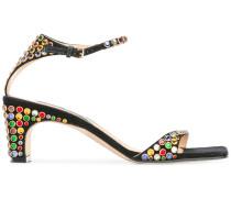 Verzierte Sandalen - women - Leder/Metall