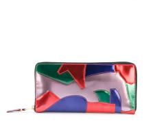 Patchwork Metal wallet - unisex - Leder
