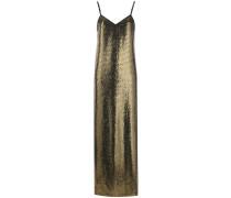 Langes Kleid mit Paillettenstickerei