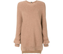 Oversized-Pullover mit Volantes