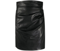 high waist gathered skirt