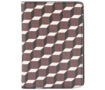 geometric print passport holder