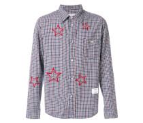 Kariertes Hemd mit aufgestickten Sternen