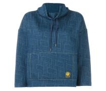 Sweatshirt mit gewebten Akzenten