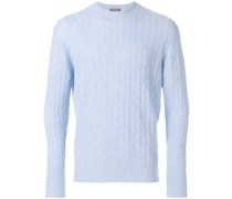 'Thames' Pullover mit Zopfmuster