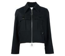 Cropped-Jacke mit Klapptaschen