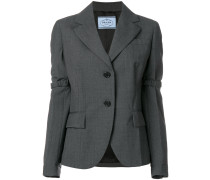 elasticated detail blazer