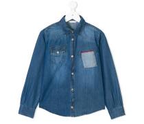 Jeanshemd mit aufgesetzter Tasche