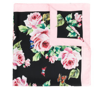rose print neck scarf