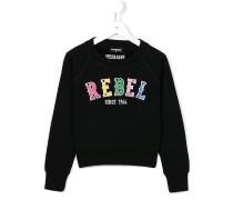 """Sweatshirt mit """"Rebel""""-Stickerei"""
