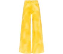 Jeans im Batik-Look