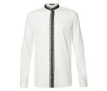 Hemd mit Spitzenborte - men - Baumwolle - XS
