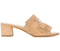 Double T fringed mules