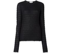 Pullover mit geometrischem Strickmuster