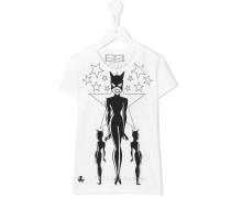 T-Shirt mit Catwoman-Print