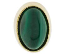 oval Malachite earring