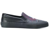 Geo Tiger slip-on sneakers