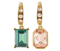 crystal-embellished asymmetric earrings