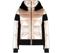 Gardena hooded metallic puffer jacket
