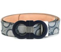 all-over double Gancini belt