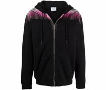 Wings zipped hoodie