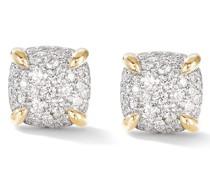 18kt Chatelaine Gelbgoldohrstecker mit Diamanten