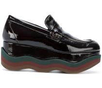waved platform loafers