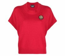Cropped-Pullover mit Logo