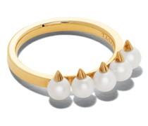 18kt Gelbgoldring mit Perle