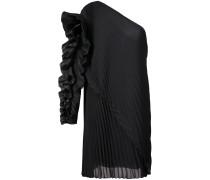 Einschultriges Kleid aus Seiden-Georgette