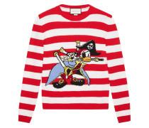 Intarsien-Pullover mit Donald-Duck-Motiv - men
